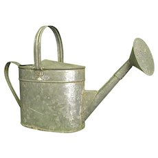 Handy Vintage Galvanized Watering Can