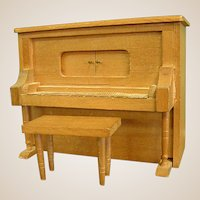 Cute Little Upright Piano Dollhouse Doll Music Box