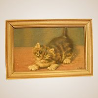 Darling Embossed Print of Kitten by Atlas Embossed Picture Co.