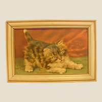 Darling Embossed Print of Kitten by Atlas Embossed Picture Co.