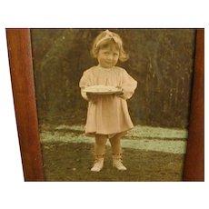 Precious Photograph of Precocious Little Girl in Pink