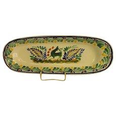 Wonderful Mexican Majolica Gorky Pottery Slender Platter