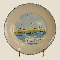 Hard to Find LS Lamas Italian Hand Decorated Terra Cotta Plates