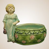 Beautiful Small French Majolica Planter