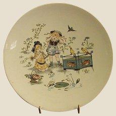 Adorable Sarreguemines Utzschneider & Co Character Plate