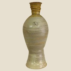 Earthy Hand-Thrown Wood Fired Pottery Vase by Shane Tidmore