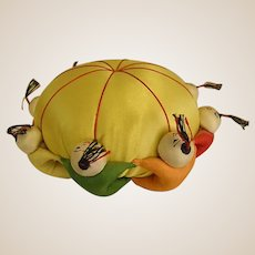 Adorable Vintage Chinese Silk Pin Cushion