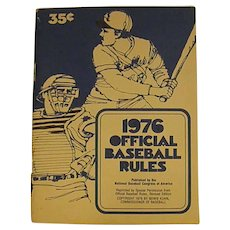 1976 Paperback Handbook Official Baseball Rules