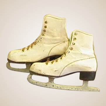 Darling Child's Ice Skates-Great for Decoration