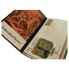 American Revolutionary War Unheralded Heroes First Day of Issue Stamps 1975