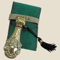 Towle Sterling Perfume Flask Bottle with Carrying Pouch