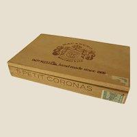 Interesting Small Wooden Jamaican Cigar Box