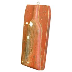 Rustic Wooden Industrial Glass Bottle Mold or Pattern