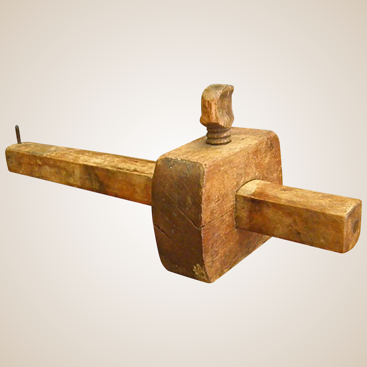 Old Rustic Wooden Marking Gauge With Thumb Screw