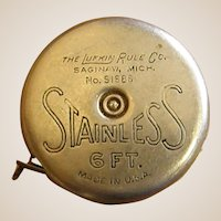 1930s Lufkin Rule Co. Stainless Wizard Junior Tape Measure
