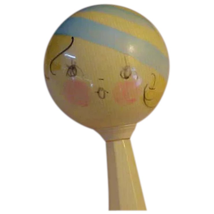 wonderful 1920s celluloid baby rattle red tag sale item sold