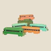 Set of Five 1950s Midgetoy Train Cars