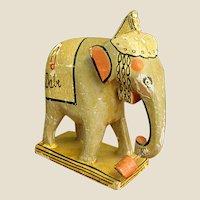 Adorable Old Papier Mache Toy Elephant