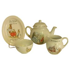 Precious Vintage Peter Rabbit Wedgwood Child's Tea Set