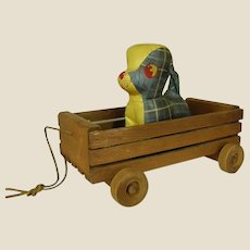 Sweet Vintage Wooden Slatted Wagon