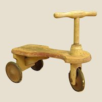 Darling Rustic Child's Wooden Scooter