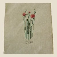 ON HOLD - Cross Stitch of Chives Herb