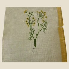 ON HOLD - Cross Stitch of Dill Herb