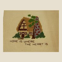 Endearing Cross Stitch of Home is Where the Heart Is