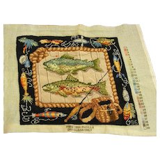 Fabulous Needlepoint for Fishing Enthusiast