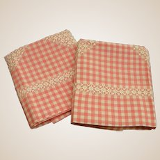 Delightful Embroidered Pink and White Pillow Cases