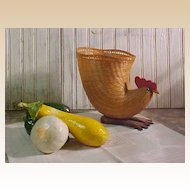 Whimsical Rooster Basket