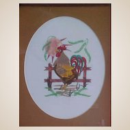 Whimsical Rooster Needlework