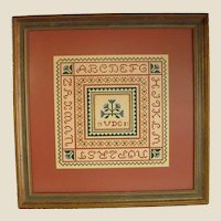 Framed and Matted Sampler Petit Point