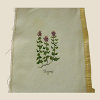 ON HOLD - Cross Stitch of Thyme Herb