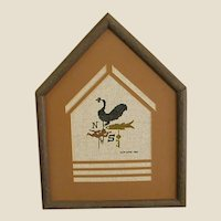 Custom Framed and Matted Weather Vane Petit Point