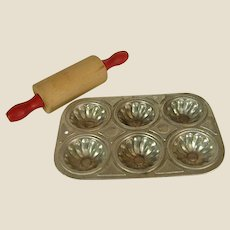 Toy Muffin Tin and Rolling Pin