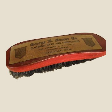 Old Clothing Brush from George Farrar Co. Nashville