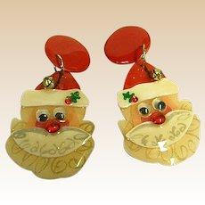 Sparkly Santa Claus Earrings