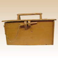 Wonderful Handmade Painted Wooden Tool Box