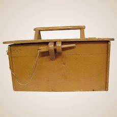 Wonderful Handmade Painted Wooden Tool Box