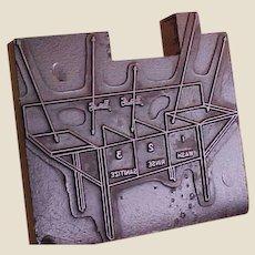 Vintage Printer's Block of Commercial Kitchen Sink