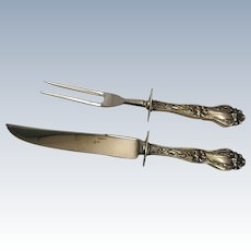 Pretty Sterling Meat Carving Set