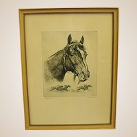 Vintage Framed Gallant Fox Print by R. H. Palenske