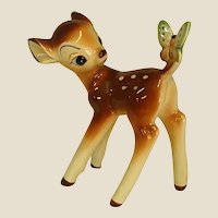 Darling Ceramic Bambi with Butterfly