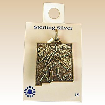 Sterling Silver New Mexico Charm