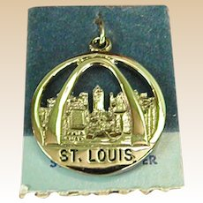 Vintage Sterling Silver St. Louis Charm