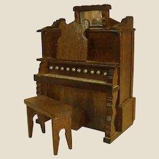 Cute Wooden Pump Organ TOYO Music Box