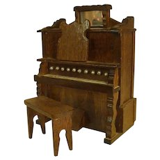Cute Wooden Pump Organ TOYO Music Box