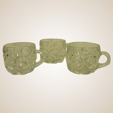 Sets of Tiffin-Franciscan Moon and Stars Punch Cups