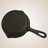 """Early Griswold Cast Iron 6 ½"""" 709A Skillet with Large Cross Logo"""